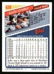 1993 Topps #628  Kelly Gruber  Back Thumbnail