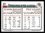 1993 Topps #641  Pat Leahy  Back Thumbnail