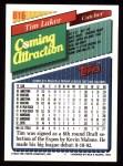 1993 Topps #816  Tim Laker  Back Thumbnail