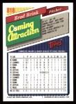 1993 Topps #818  Brad Brink  Back Thumbnail