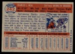 1957 Topps #242  Charlie Neal  Back Thumbnail