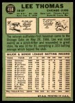 1967 Topps #458  Lee Thomas  Back Thumbnail