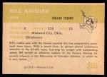 1961 Fleer #205  Bill Krisher  Back Thumbnail