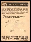 1959 Topps #38   Browns Pennant Back Thumbnail