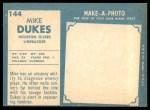 1961 Topps #144  Mike Dukes  Back Thumbnail