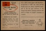 1954 Bowman #59  Bill McColl  Back Thumbnail