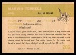 1961 Fleer #206  Marvin Terrell  Back Thumbnail