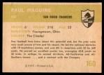 1961 Fleer #160  Paul Maguire  Back Thumbnail