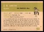 1961 Fleer #60  J.D. Smith  Back Thumbnail