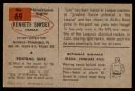 1954 Bowman #69  Ken Snyder  Back Thumbnail