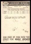 1959 Topps #169  Junior Wren  Back Thumbnail