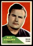 1960 Fleer #129  Ray Collins  Front Thumbnail