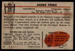 1953 Bowman #23  Jim Finks  Back Thumbnail