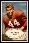1953 Bowman #25  Kyle Rote  Front Thumbnail