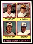 1976 Topps #594   -  Andy Merchant / Ed Ott / Royle Stillman / Jerry White Rookie Catchers and Outfielders   Front Thumbnail