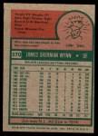 1975 Topps Mini #570  Jim Wynn  Back Thumbnail