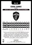2017 Hoops #33  Isaiah Thomas  Back Thumbnail