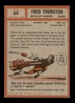 1962 Topps #69  Fred Thurston  Back Thumbnail