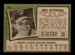 1971 Topps #393  Merv Rettenmund  Back Thumbnail