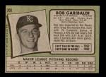 1971 Topps #701  Bob Garibaldi  Back Thumbnail