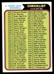 1974 Topps #637   Checklist 5 Front Thumbnail