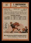 1962 Topps #77  Zeke Bratkowski  Back Thumbnail