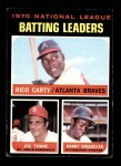 1971 Topps #62   -  Rico Carty / Manny Sanguillen / Joe Torre NL Batting Leaders  Front Thumbnail