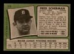 1971 Topps #316  Fred Scherman  Back Thumbnail