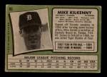 1971 Topps #86  Mike Kilkenny  Back Thumbnail