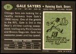 1969 Topps #51  Gale Sayers  Back Thumbnail