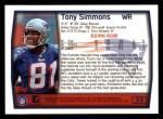 1999 Topps #52  Tony Simmons  Back Thumbnail