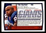 1999 Topps #79  Tiki Barber  Back Thumbnail