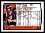 1999 Topps #90  John Elway  Back Thumbnail