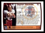1999 Topps #115  Stephen Alexander  Back Thumbnail