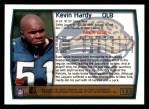 1999 Topps #153  Kevin Hardy  Back Thumbnail