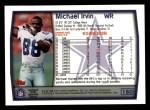 1999 Topps #180  Michael Irvin  Back Thumbnail