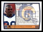 1999 Topps #208  Isaac Bruce  Back Thumbnail