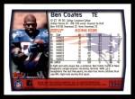 1999 Topps #256  Ben Coates  Back Thumbnail