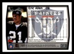 1999 Topps #312  Eric Allen  Back Thumbnail