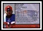 1999 Topps #334  Kevin Faulk  Back Thumbnail