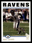 2004 Topps #188  Ray Lewis  Front Thumbnail