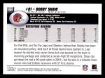 2004 Topps #261  Bobby Shaw  Back Thumbnail