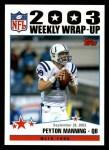 2004 Topps #294   -  Peyton Manning Weekly Wrap-Up Front Thumbnail