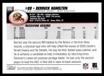 2004 Topps #340  Derrick Hamilton  Back Thumbnail