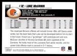 2004 Topps #368  Luke McCown  Back Thumbnail