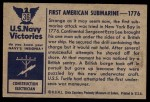 1954 Bowman U.S. Navy Victories #36   First American Submarine Back Thumbnail