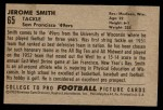 1952 Bowman Small #65  Jerome Smith  Back Thumbnail