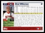 2005 Topps Update #13  Brad Wilkerson  Back Thumbnail