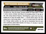 2005 Topps Update #133   -  Geoff Blum World Series Back Thumbnail