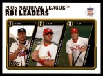 2005 Topps Update #143   -  Andruw Jones / Albert Pujols / Pat Burrell NL RBI Leaders Front Thumbnail